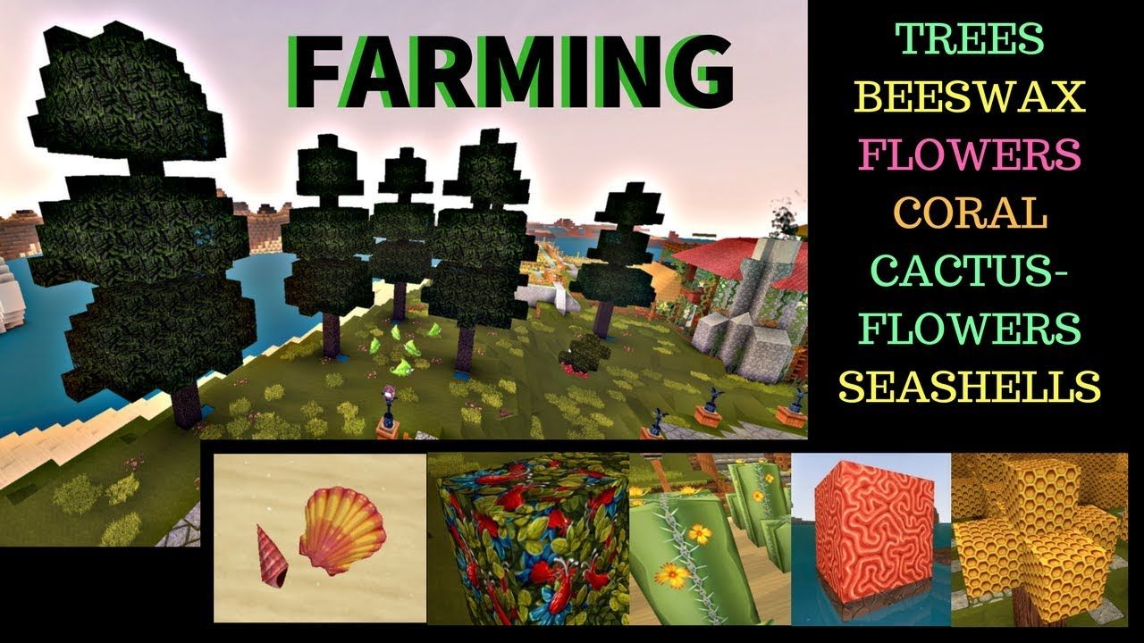 Creativerse Farming, Beeswax, Cactus Flower, Trees, Coral