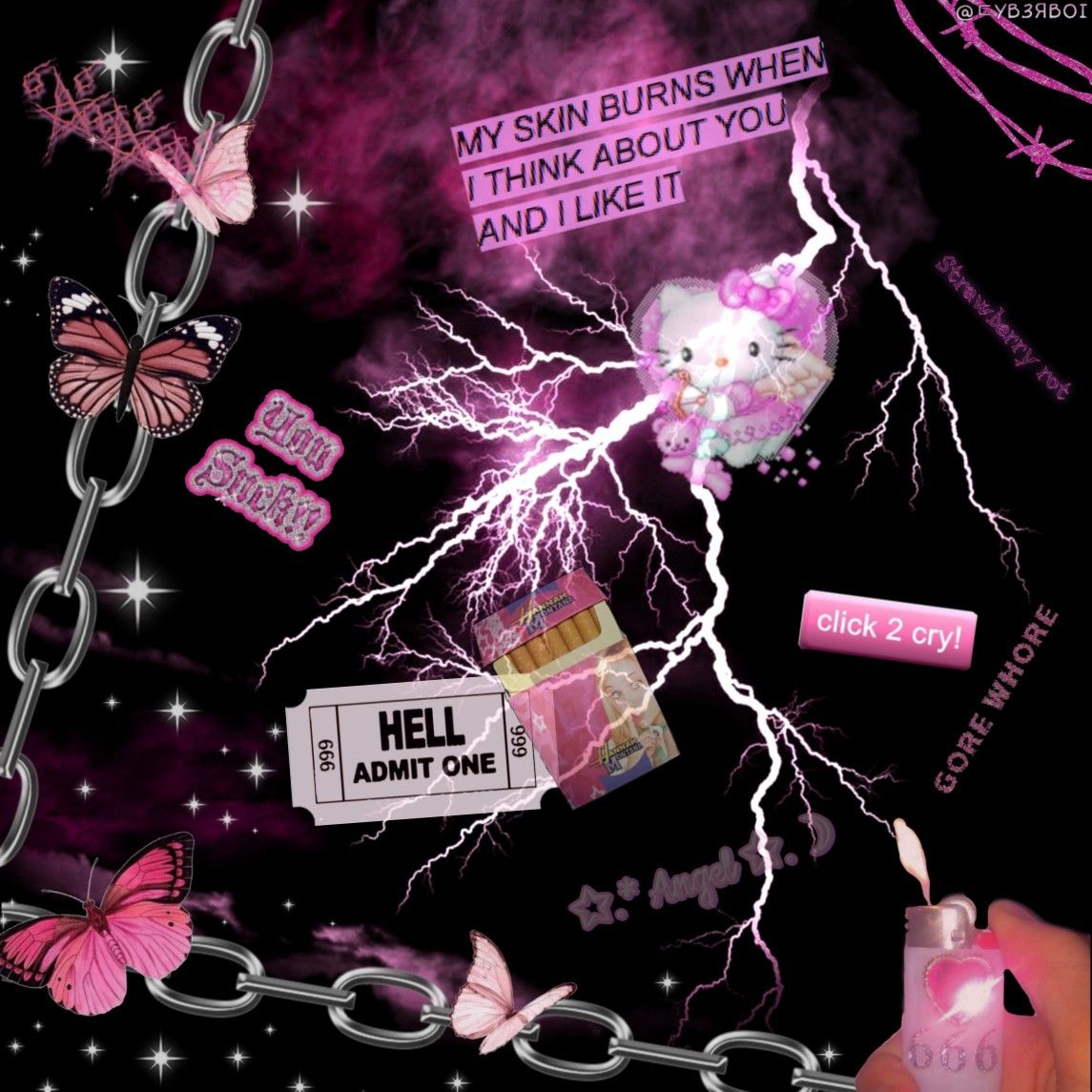 Pink cybergoth edit in 2020 Aesthetic iphone wallpaper