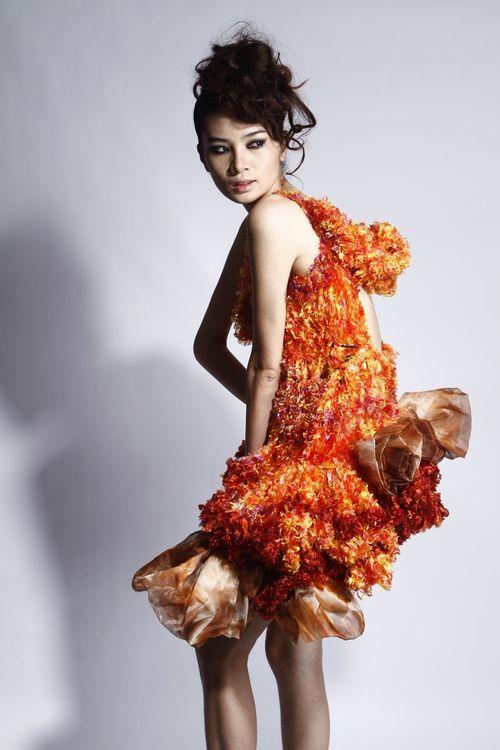 Knitting Wearable Art : Beautiful dress handmade using crocheting and knitting