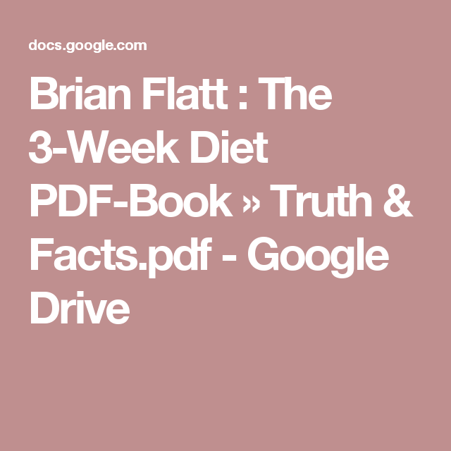 3 week diet plan brian flatt pdf