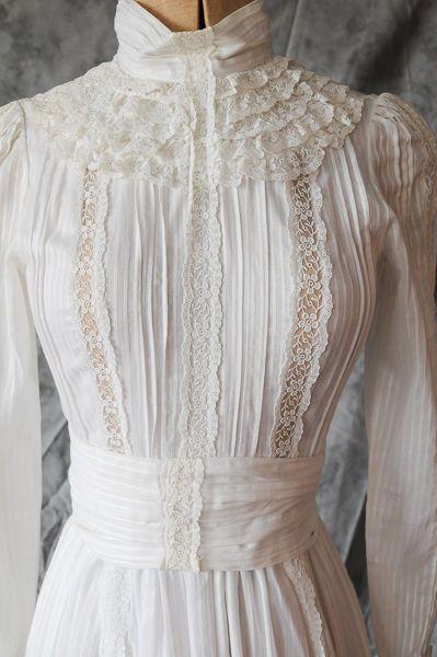 Laura Ashley edwardian wedding style dress 1983