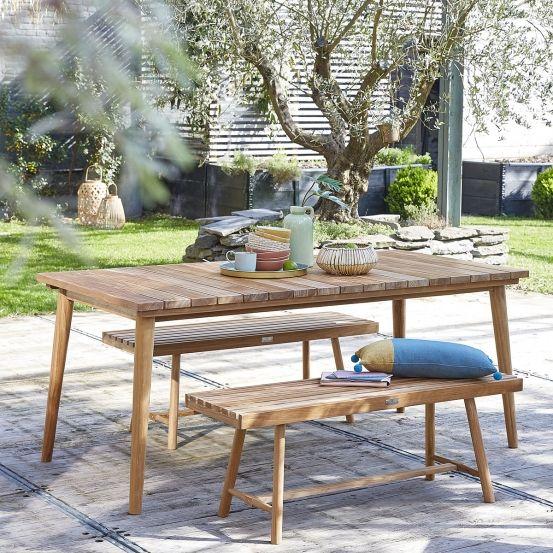 Salon de jardin en bois de teck 8 places MIDLAND | Du ...