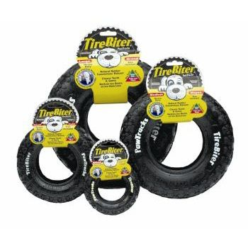 Mammoth Pet Tire Biter Paw Tracks Dog Toys Are Made From Real