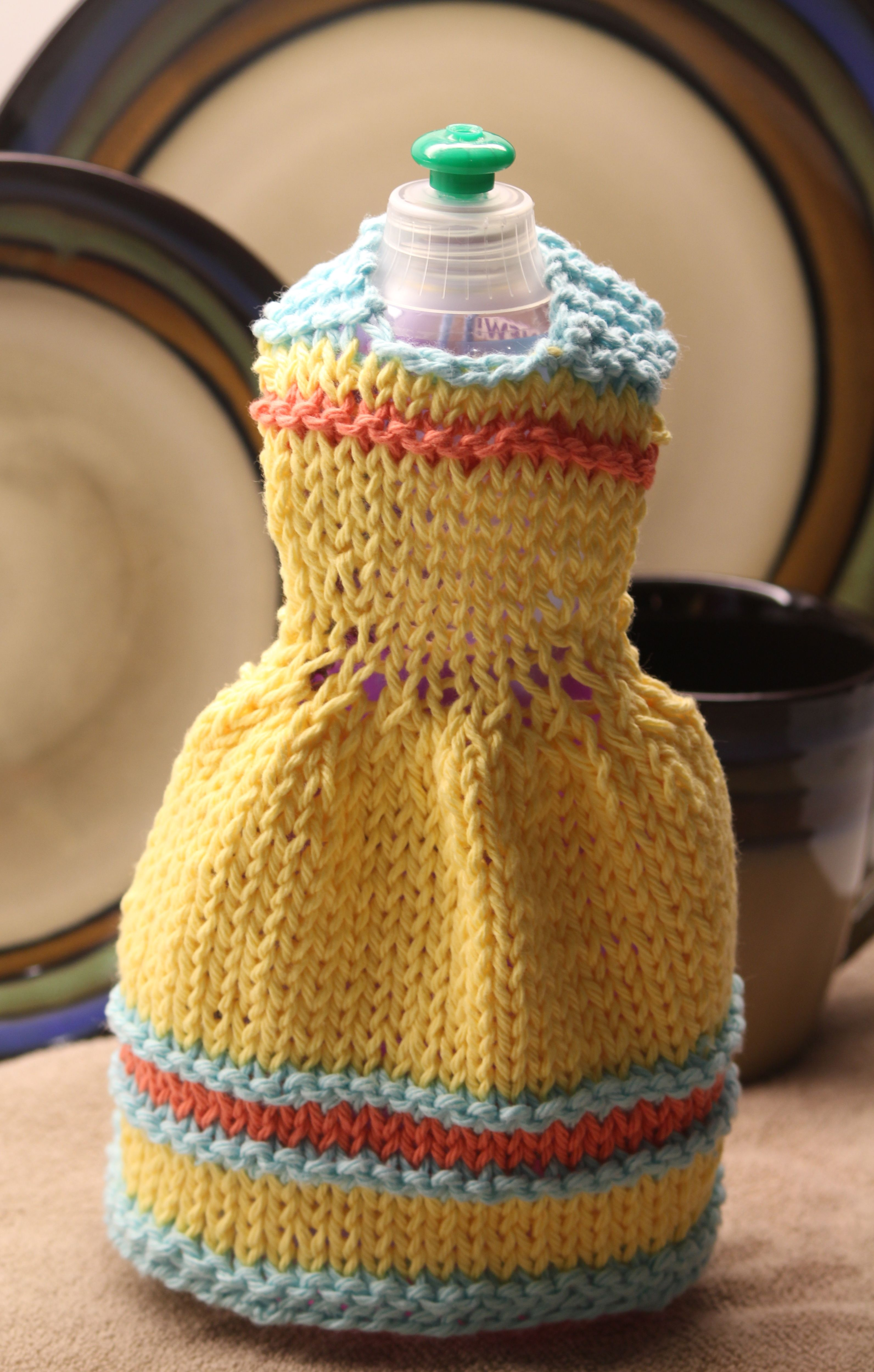 Knitted Dishcloth Dress | I made this! | Pinterest | Knitted ...