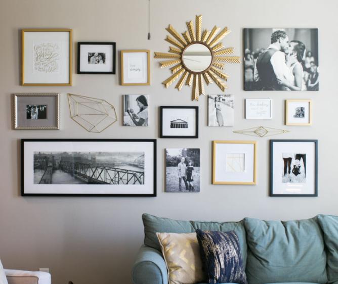 Framed Photo Collage | home decor | Pinterest | En casa, Espacios y ...