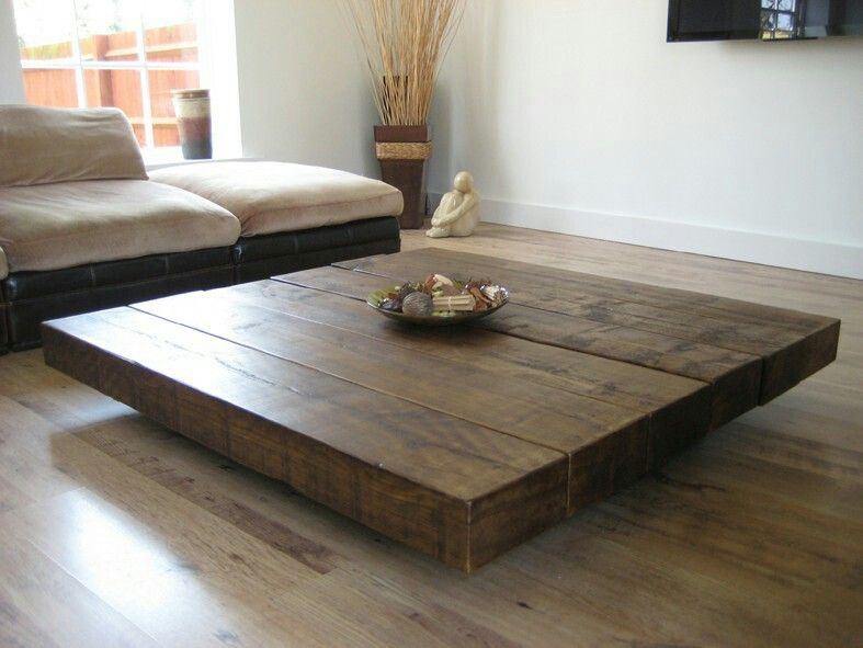 Pin By Sara W On Home Ideas Big Coffee Table Large Square
