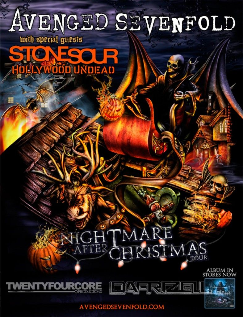 Nightmare After Christmas Tour Avenged Sevenfold Stone Sour