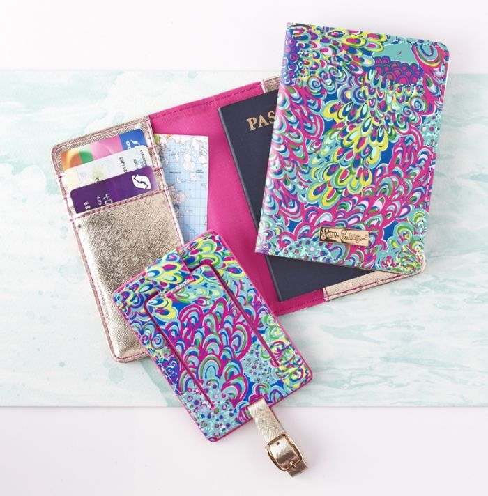 Luggage Tag And Passport Holder Wild Confetti Lilly Pulitzer Passport Cover Lillies