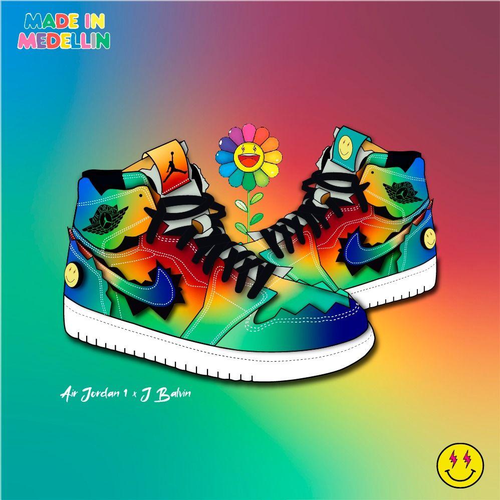 Air Jordan 1 X J Balvin En 2020 Jbalvin Colores