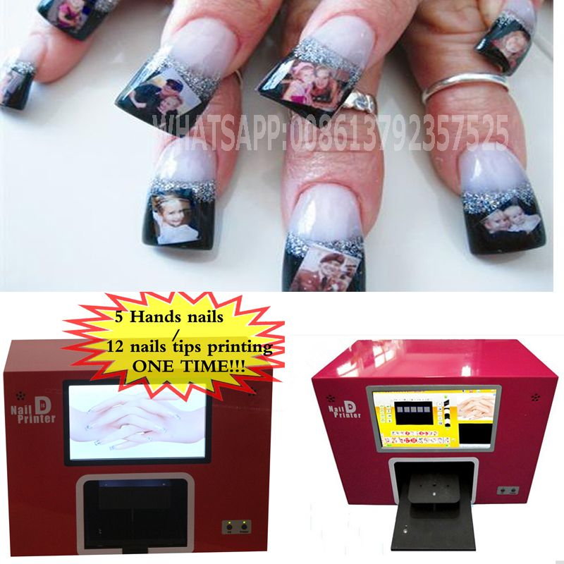 NEW UPGRADED free shipping screen digital nail printer nail printing ...