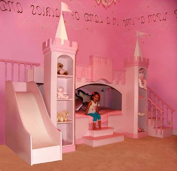 Appealing castle themed toddler girls bedroom ideas for Children bedroom designs girls