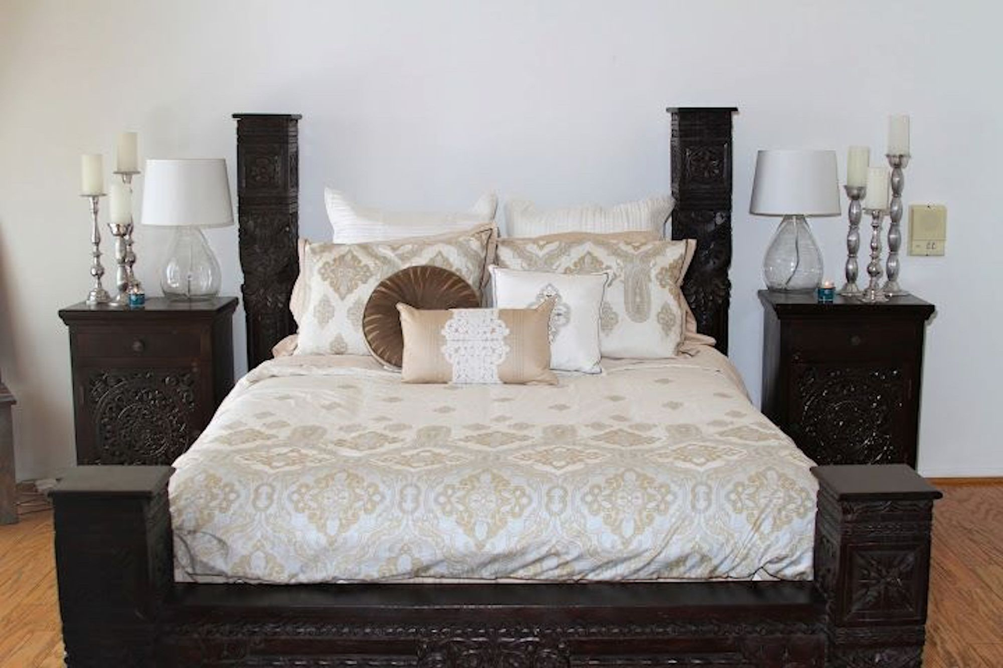 Low Pillar Bed Indian Bedding Bed Handcrafted Bed