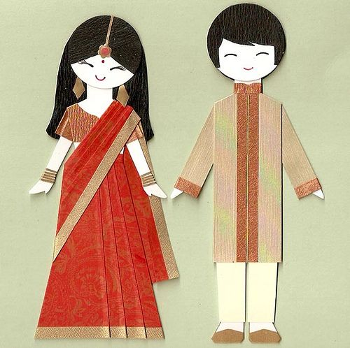 indian boy and girl paper dolls