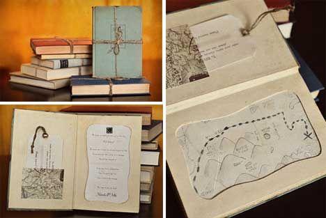 unconventional wedding invitations love this book one - Book Wedding Invitations