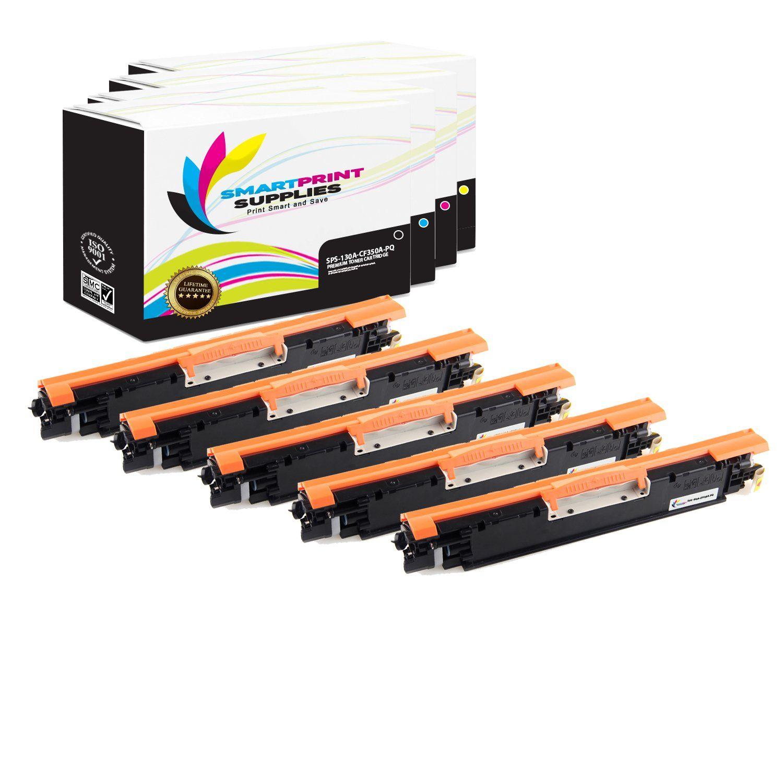 5 Pack Hp 130a Premium Replacement Cmyk Toner Cartridge With Images Toner Cartridge Cartridges Toner