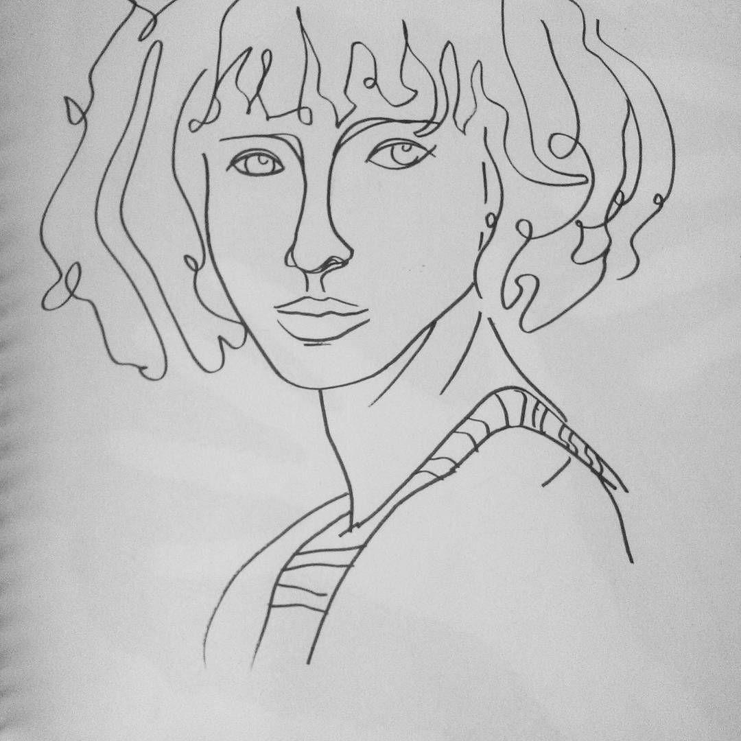 Dibujo Artistico Linea Sensible Estilo Picasso Instagram Posts Female Sketch Male Sketch
