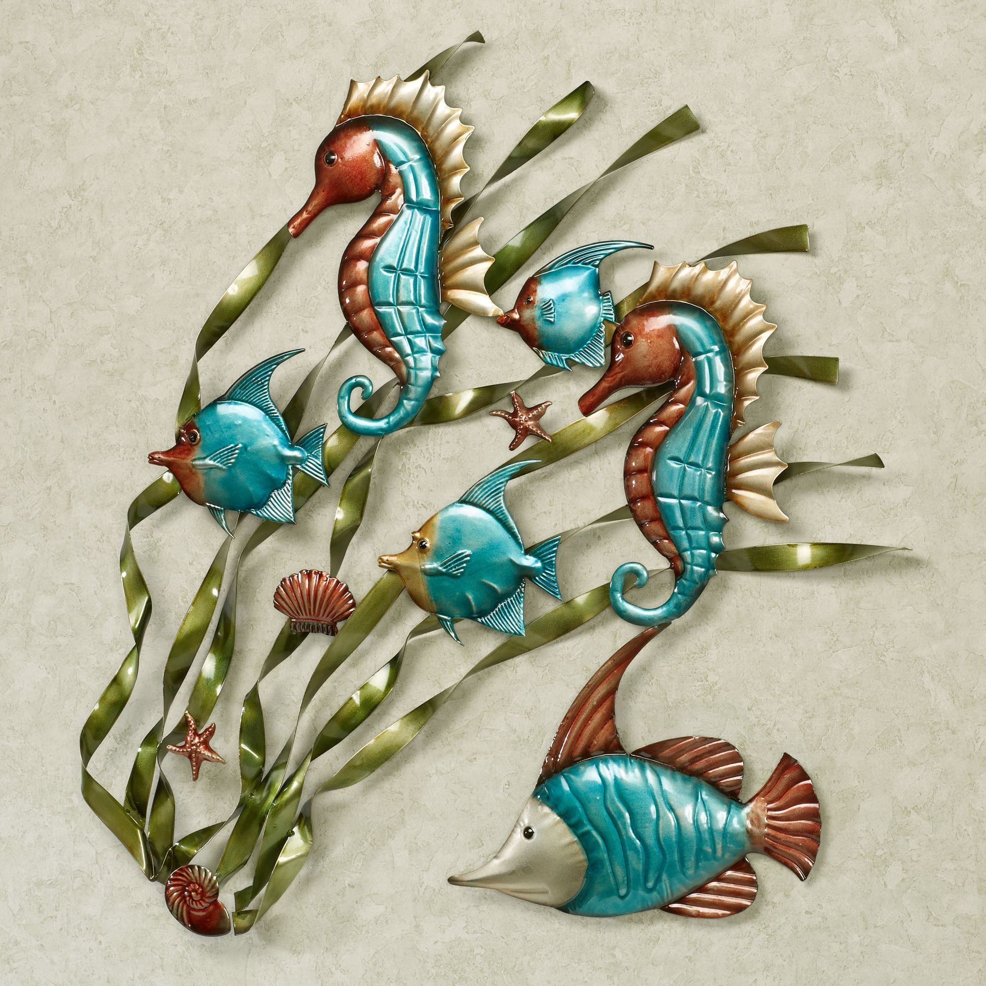 Fish Metal Wall Art deep sea fish and seahorse metal wall art | deep sea fishing, sea
