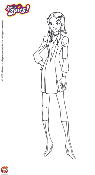 Coloriage mandy aime la mode dessin coloriages - Totally spies coloriage ...