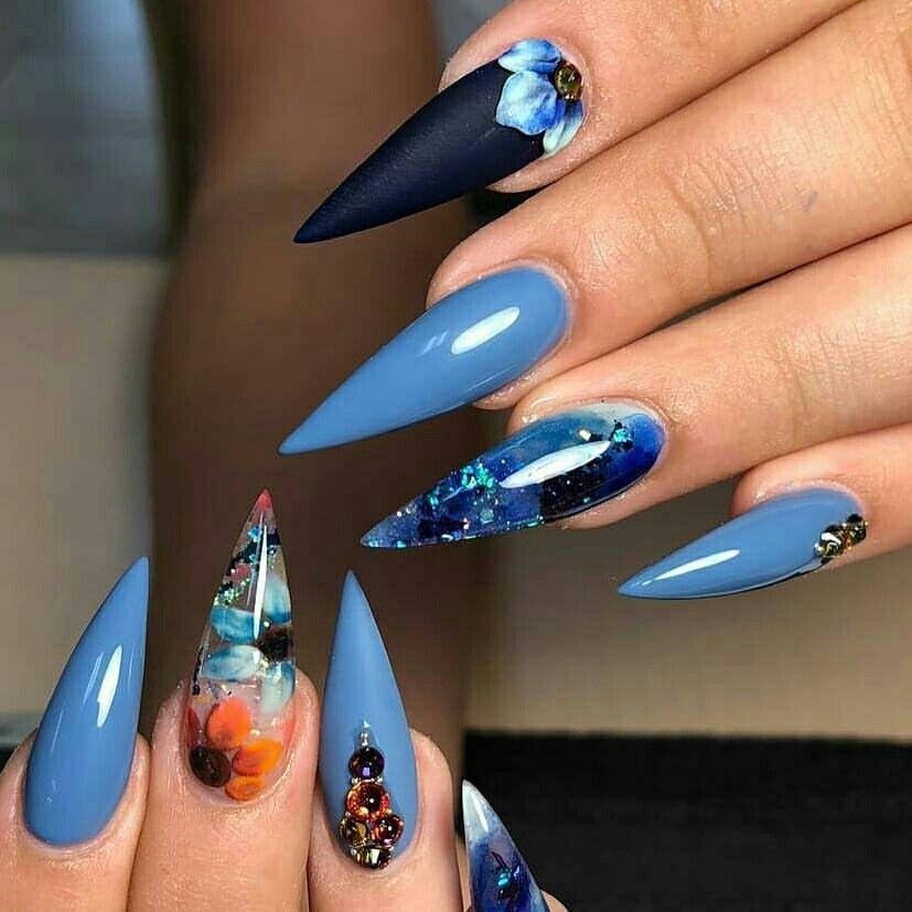 Pinterest Iiiannaiii Floral Nails Stiletto Nails Designs