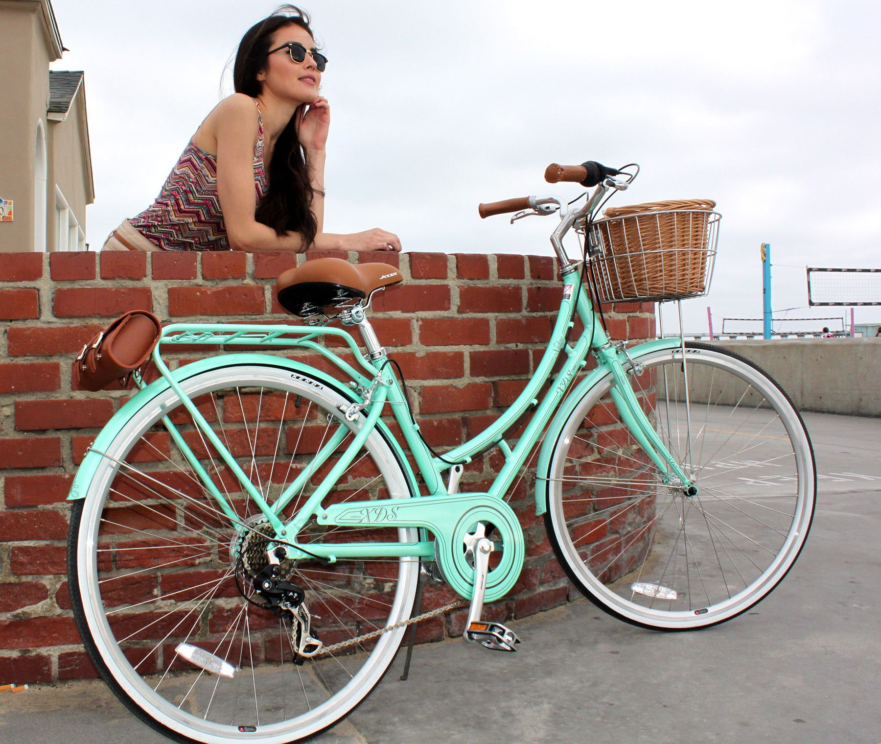 Xds Nadine 7sp Women S Hybrid City Commuter Bike Pearl Mint