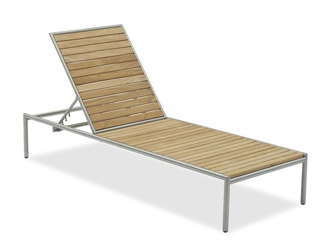 Teak Chaise Lounge Chairs sutton place stainless steel/teak chaise lounge | furniture