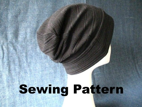 Easy sewing pattern and tutorial for simple slouchy beanie hat with ...