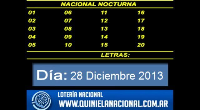 Quiniela Nacional Nocturna Viernes 27 De Diciembre 2013 Boarding Pass