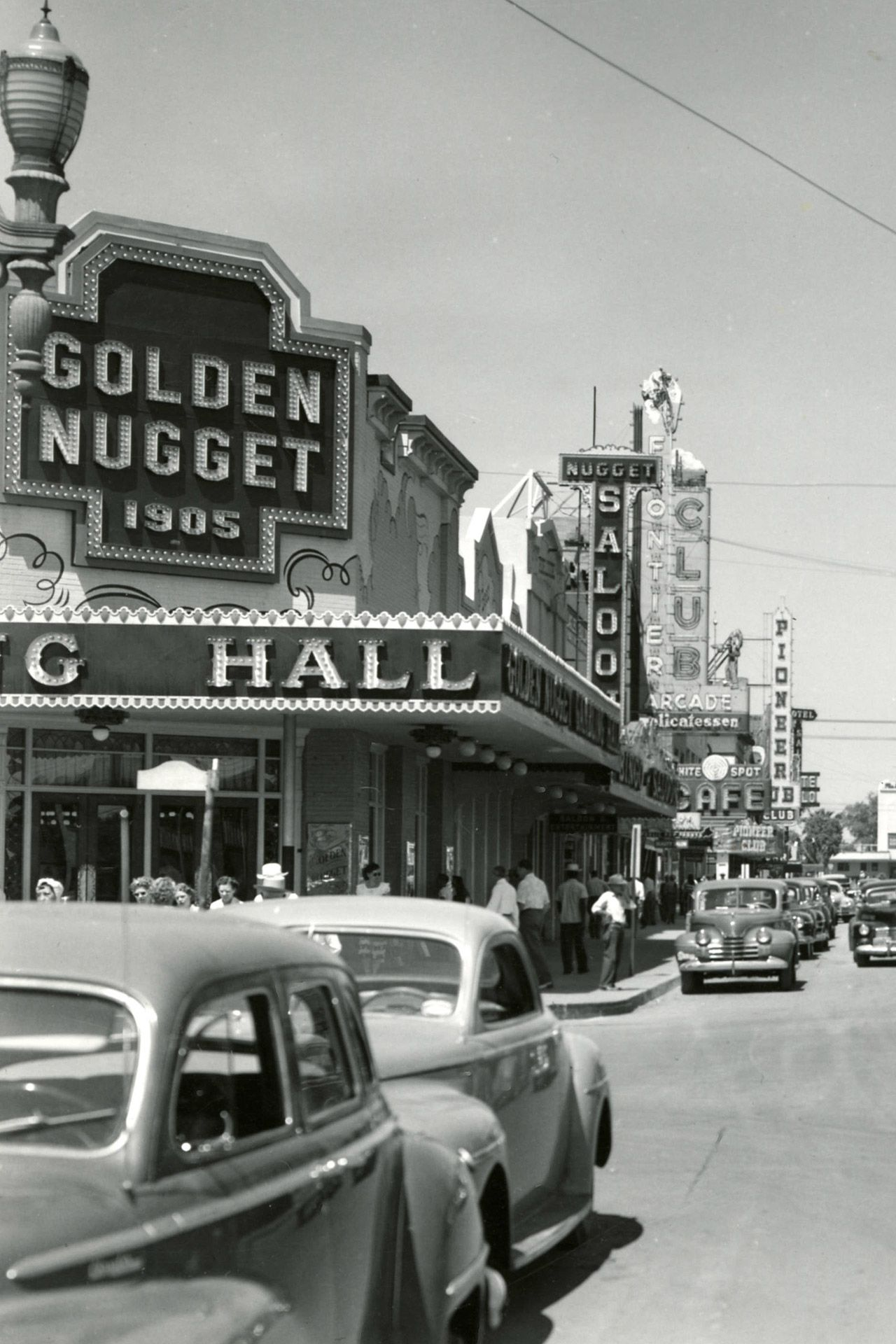 Vintage Las Vegas — Fremont St, Las Vegas, 1948.  On the left, Golden...