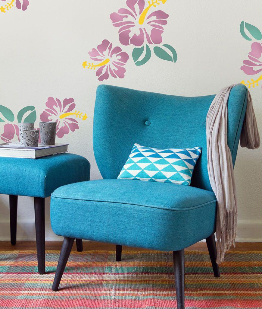 Hibiskus Aplikacja Accent Chairs Decor Home Decor
