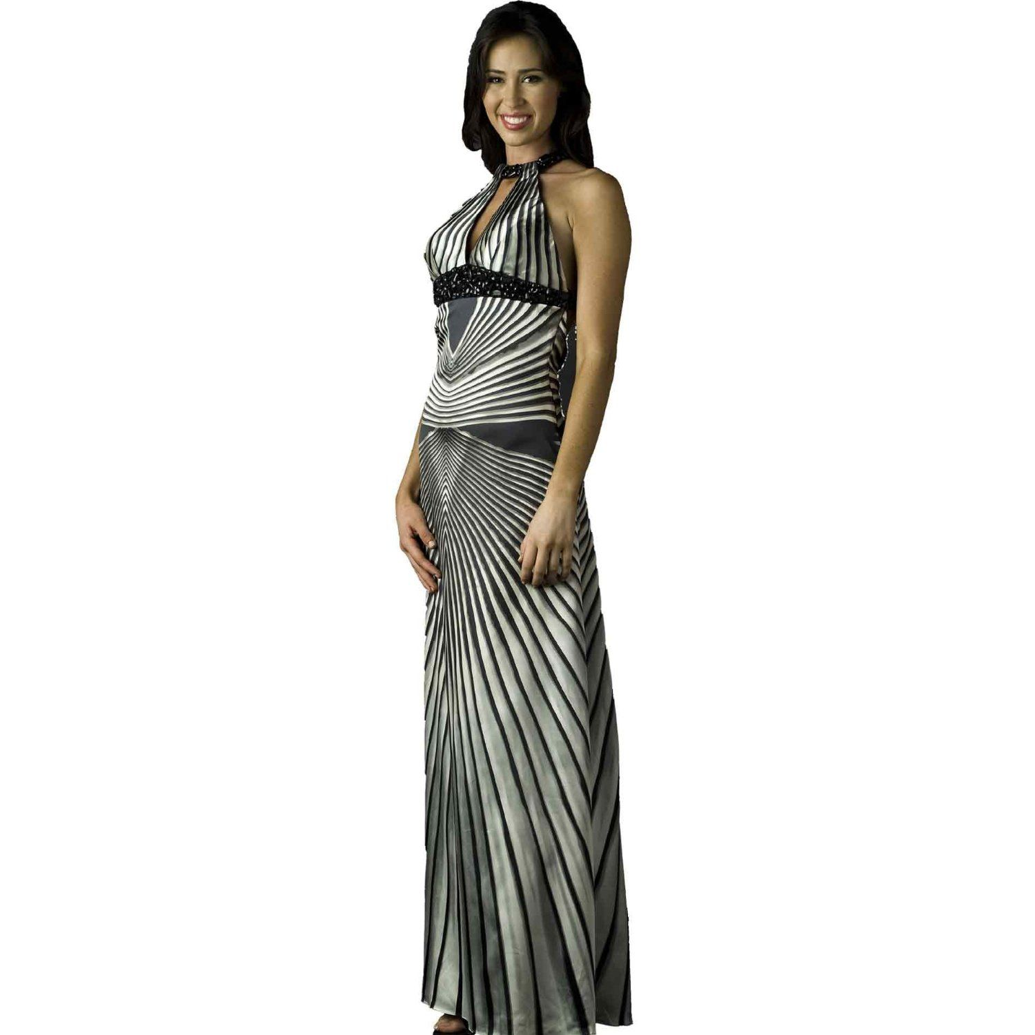 Beaded evening gown sequin prom dress azonbeaded