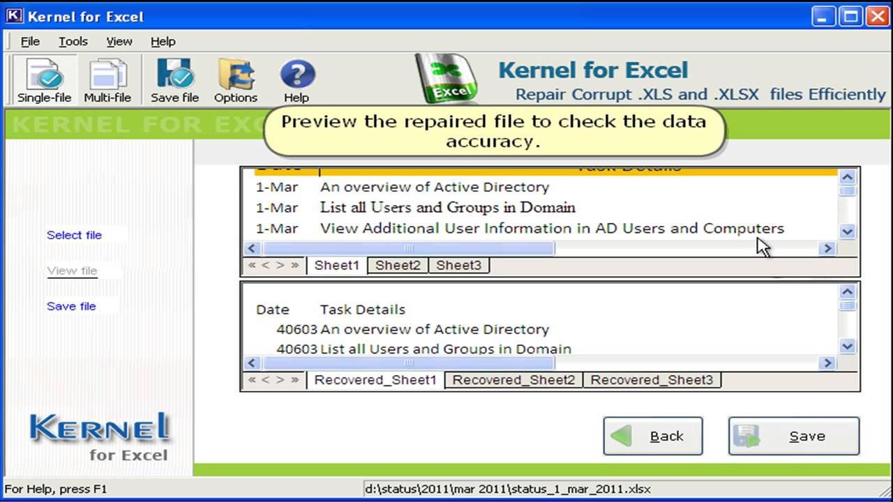 How To Recover A Corrupt Excel Files Active Directory Office