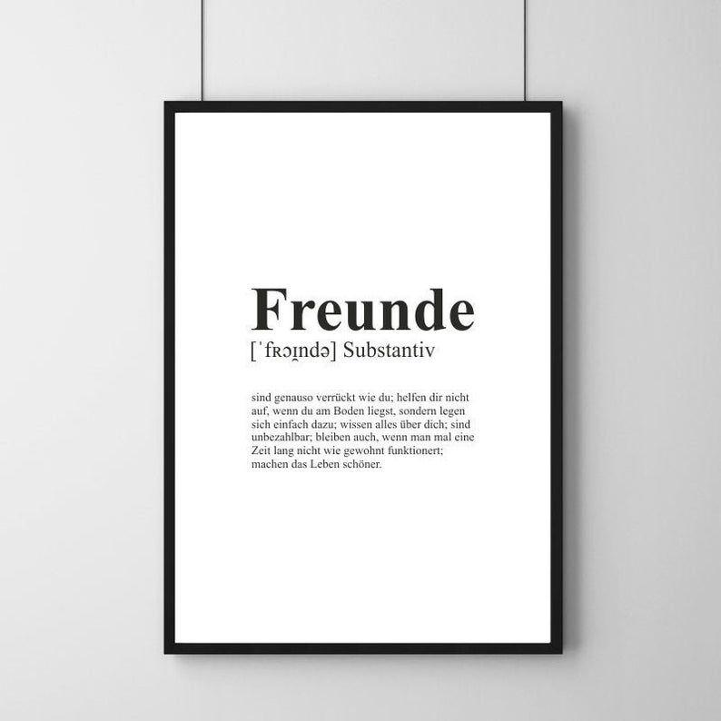 Poster Definition Friends Friendship Minimalist Art Print In 2020 Minimalist Art Print Inspirational Life Lessons Minimalist Art