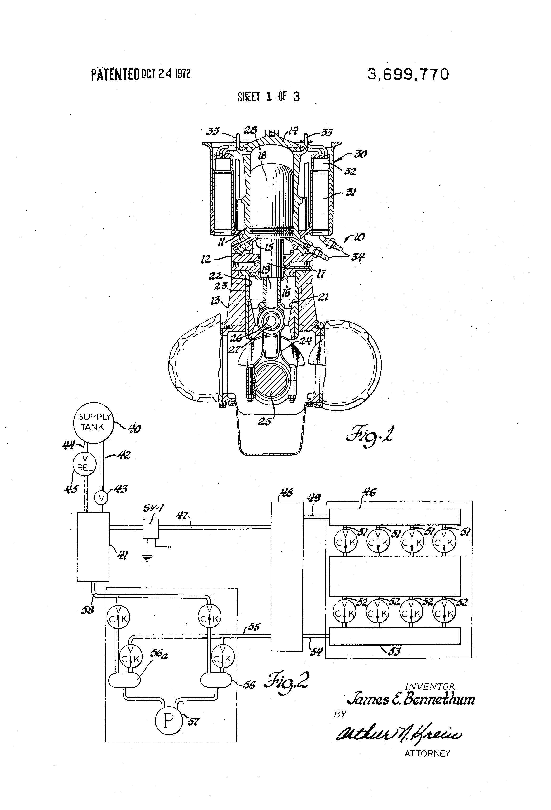 Stirling engine control system US 3699770 A Patent Drawing