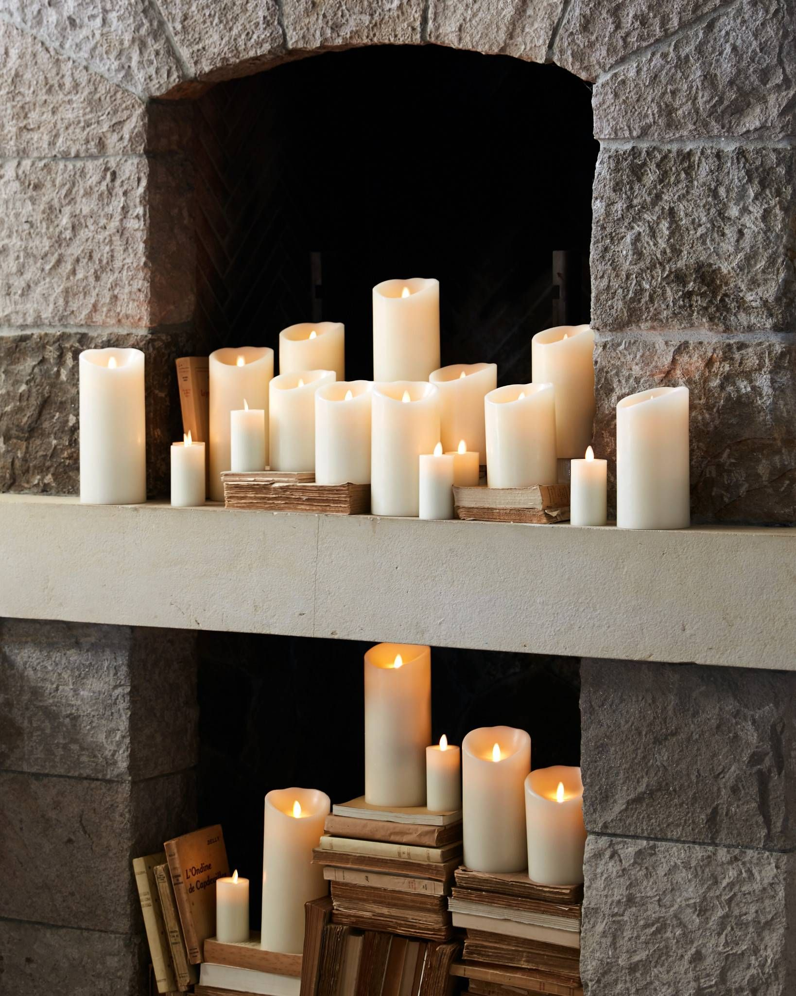 Miracle Flame Led Wax Pillar Candle Safe Wax Candles Pillar Candles Pillar Candles Fireplace Led Candle Decor
