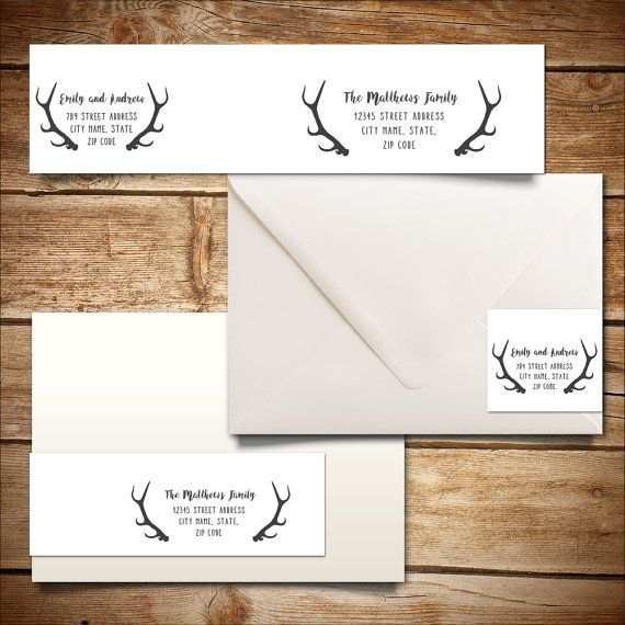 Printable Address Label Template for A7 Envelopes - Return Address - Address Label Template