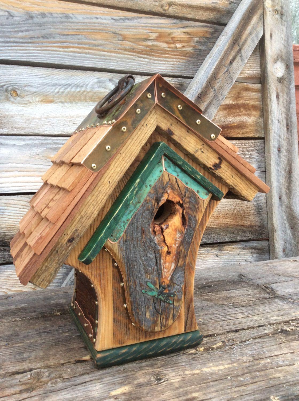 Home design bilder im freien unique barnwood birdhouse reclaimed recycled von campbellwoodworks
