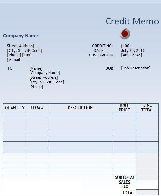 Microsoft Word Memo Format Credit Memo Template  Wordstemplates  Pinterest  Template