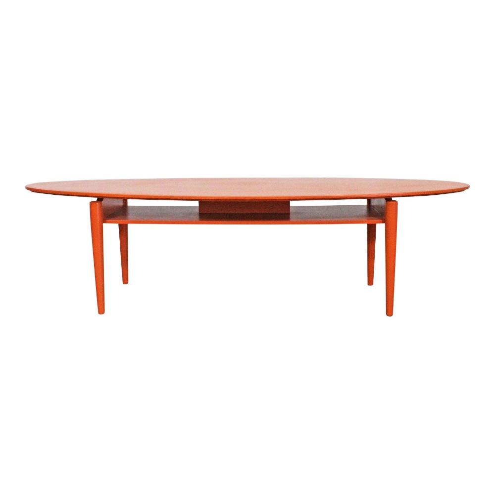 Mid Century Modern Coffee Table Atomic Orange Elliptical Etsy Mid Century Modern Coffee Table Country Dining Tables Modern Coffee Tables [ 999 x 1000 Pixel ]