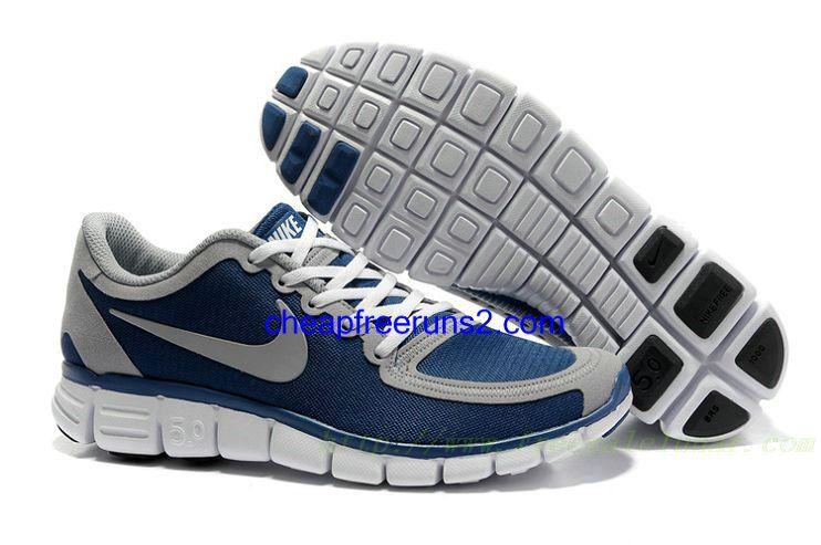 66bffc62967a4 Cheap Nike Free 5.0 V4 Men s Shoe Navy Wolf Grey