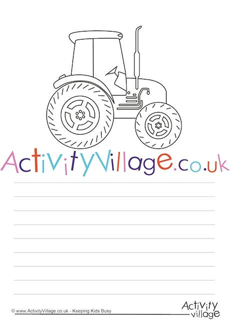 Use this tractor story paper to encourage some creative
