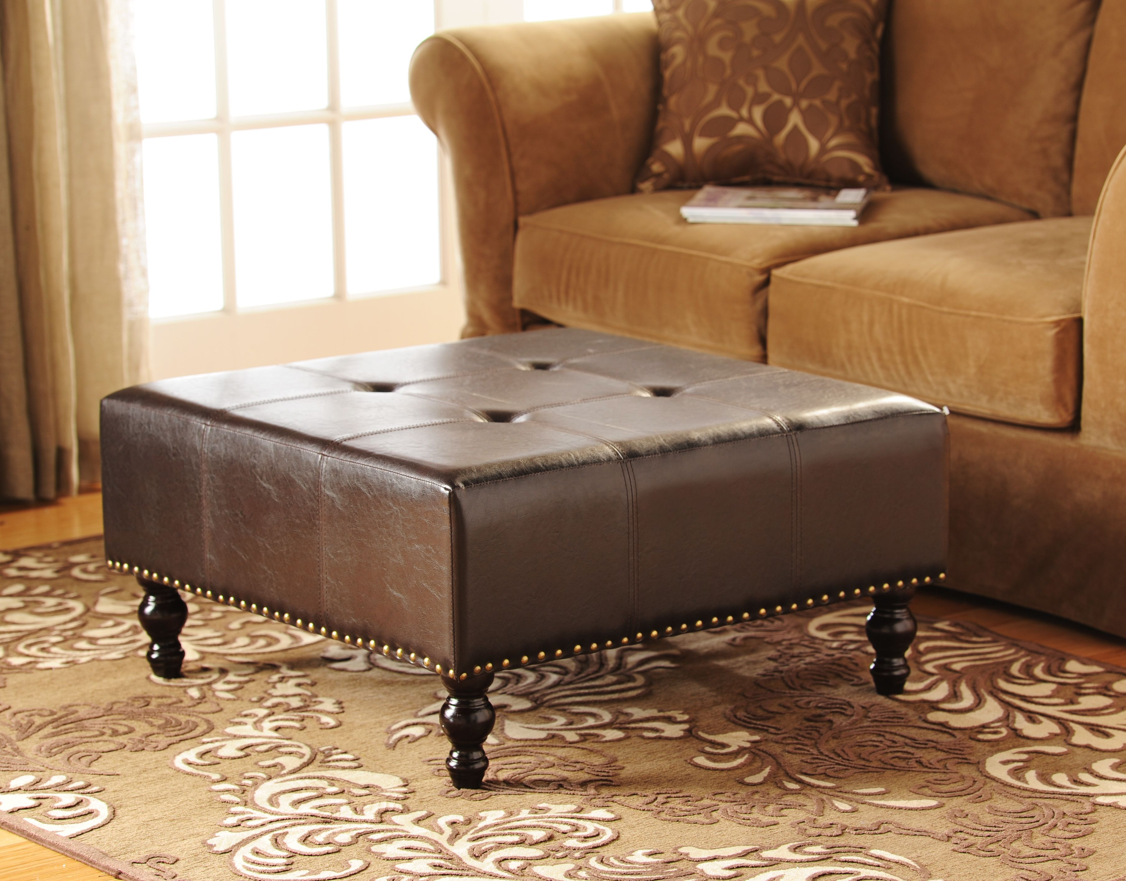 Brilliant Product Details Faux Leather Ottoman Table Ideas I Like Pabps2019 Chair Design Images Pabps2019Com