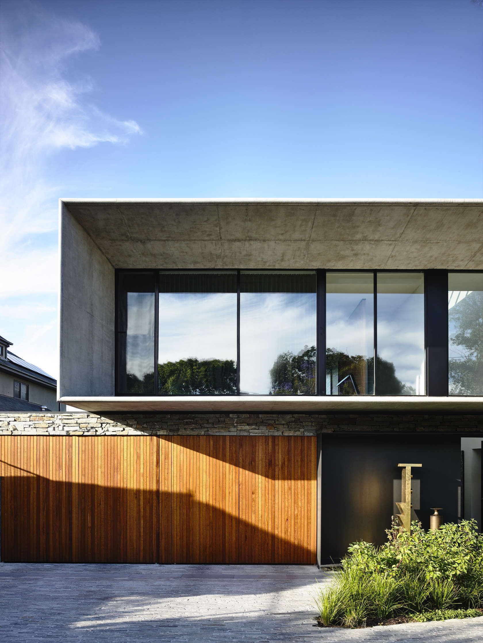 Concrete house is located in beachside southeastern melbourne