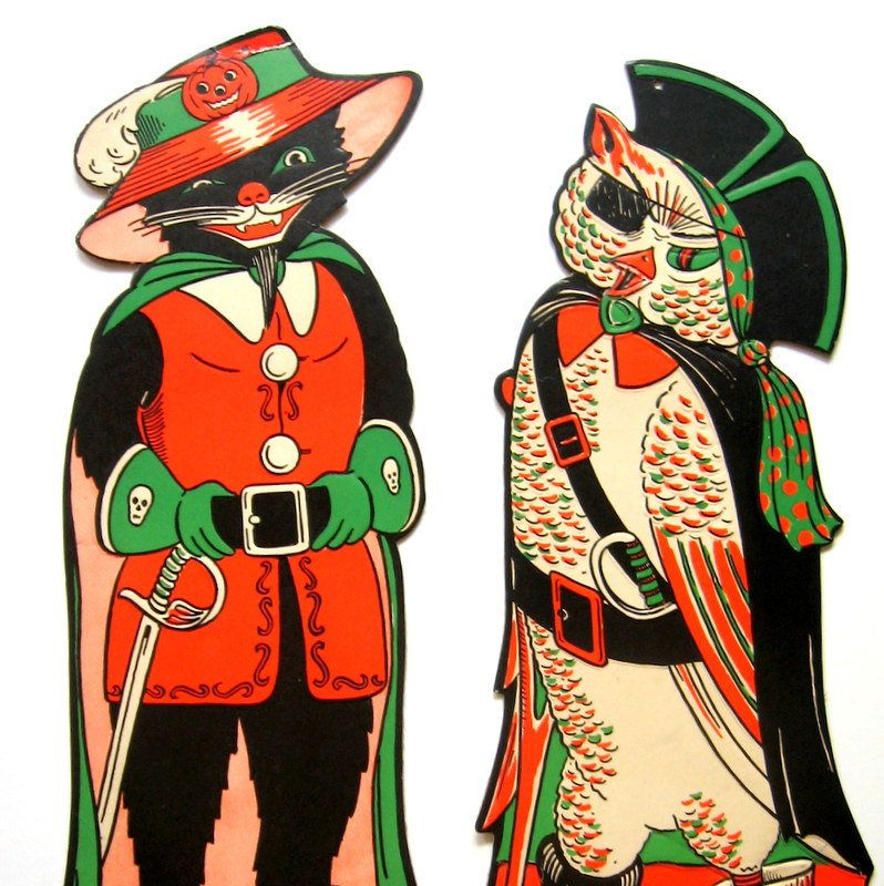 Pin by enchantedplanet on STATTEAM VINTAGE AND RECYCLED Pinterest - halloween decorations vintage