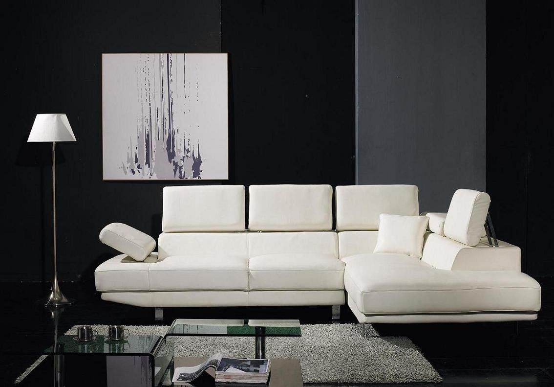 T60 Ultra Modern White Leather Sectional Sofa Modern Sofa Sectional Contemporary Sectional Sofa Sectional Sofa