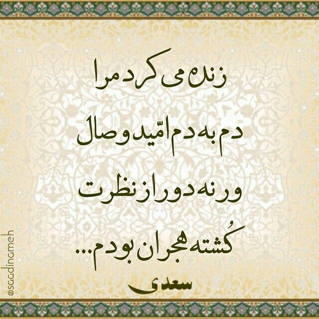 سعدی Words Cool Words Persian Quotes