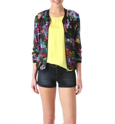 Tropical bomber jacket