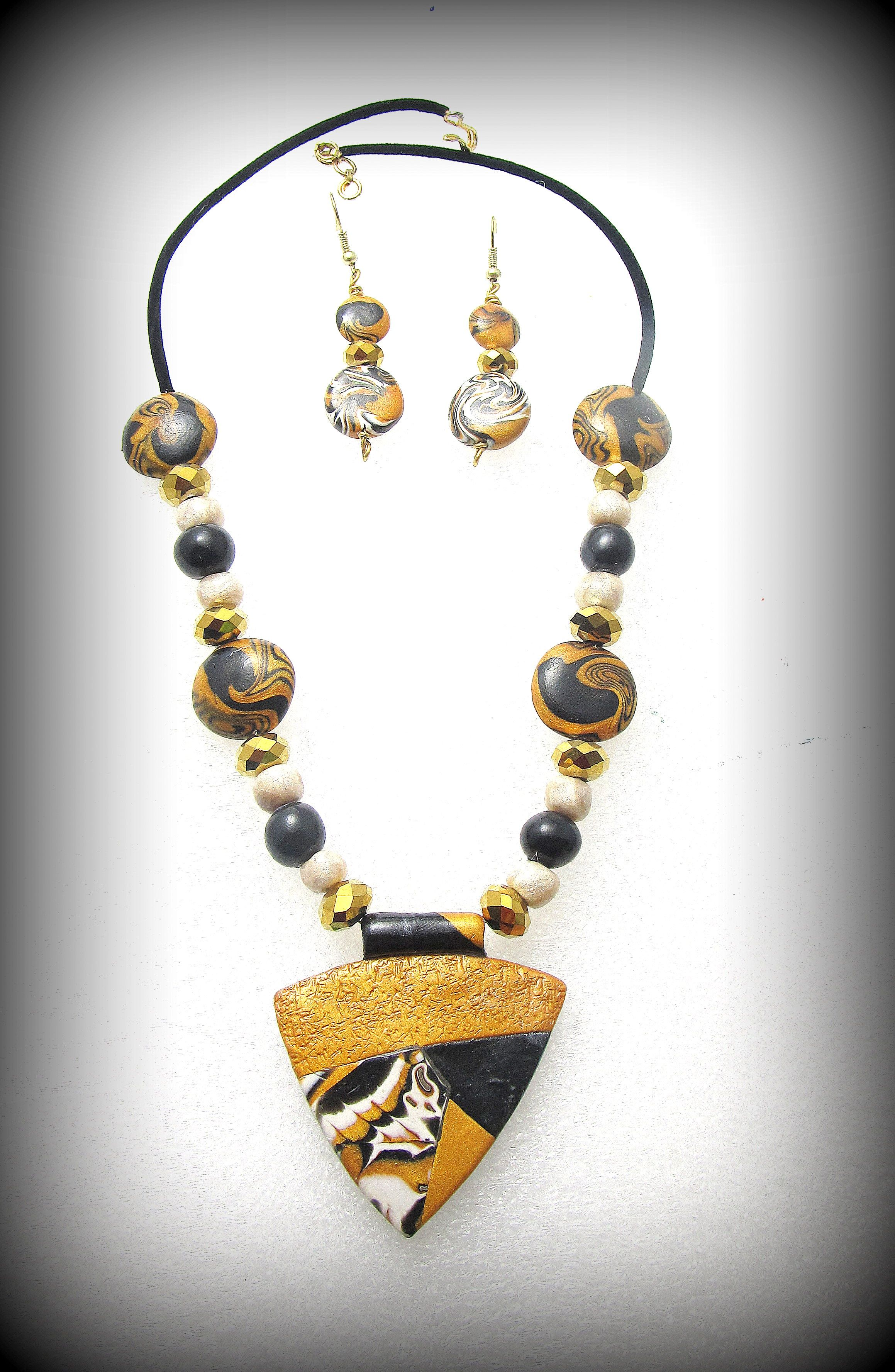 Polymer clay Black and gold My polymer clay creations Pinterest