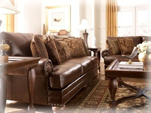 Ashley \'Durablend Antique\' Sofa & Loveseat   For the Home   Pinterest