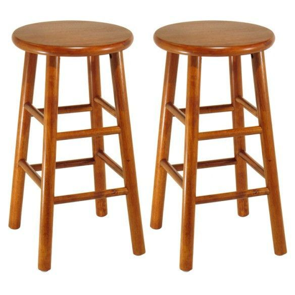 "Furniture - The 24"" cherry finished bar stool is an instant classic and a perfect addition to any home that will provide plenty of seating. Can be used as counter top seati"