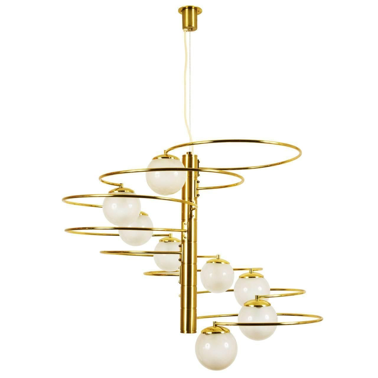 1970s Lumi Chandelier | From a unique collection of antique and modern chandeliers and pendants at https://www.1stdibs.com/furniture/lighting/chandeliers-pendant-lights/